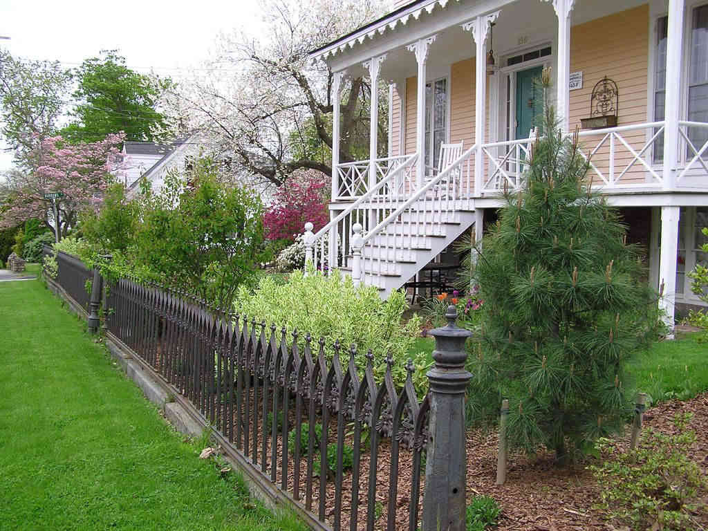 Front Porch and Spring Landscape